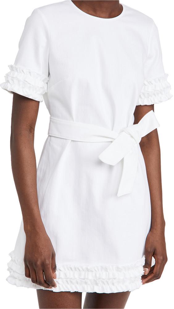Cinq a Sept Denim Easton Dress in white