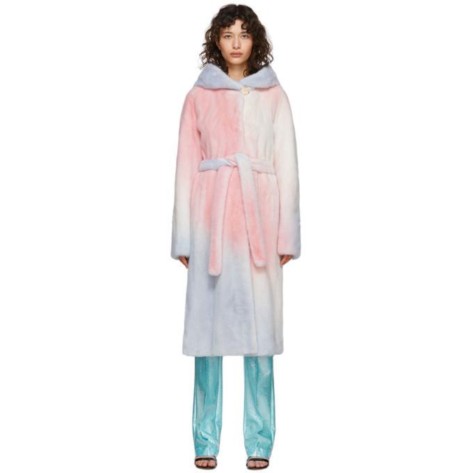 Saks Potts Multicolor Fur Robin Coat in multi