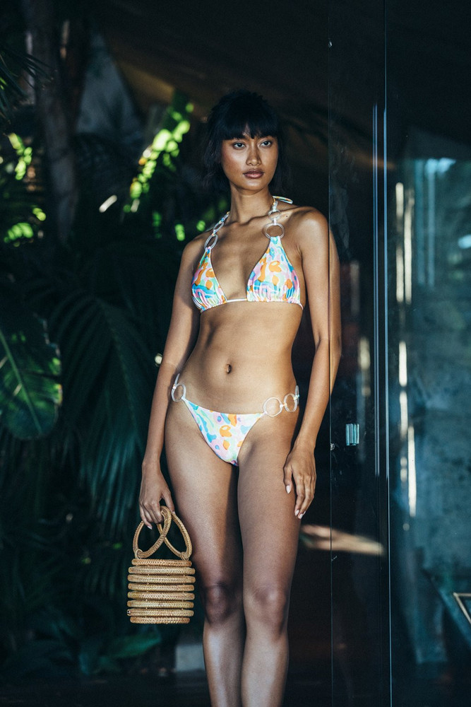 Cult Gaia Zoey Bikini Bottom - Hibiscus Multi (PREORDER)                                                                                               $149.00