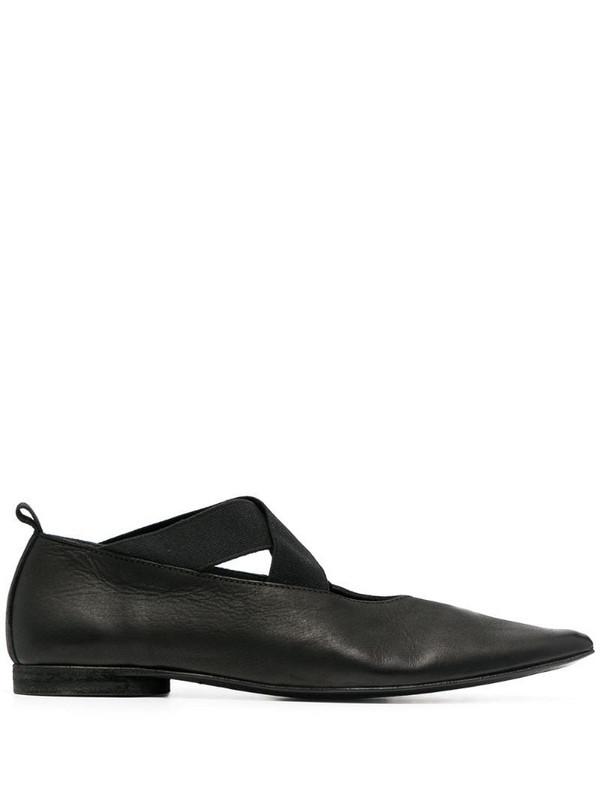 Uma Wang cross-strap ballerina shoes in black