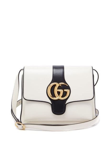 Gucci - Arli Gg Leather Cross Body Bag - Womens - White Multi