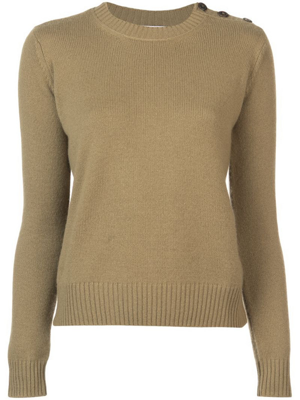 Alexandra Golovanoff long-sleeve fitted sweater in green