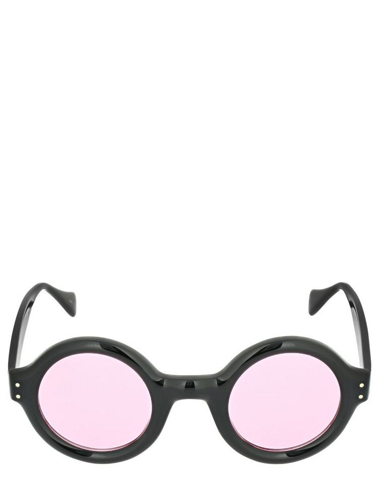 GUCCI Gg0871s Round Acetate Sunglasses in black / pink