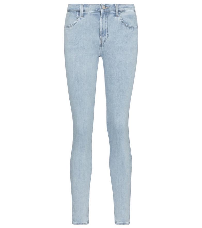 J Brand Sophia mid-rise skinny jeans in blue