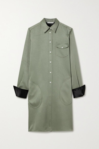 Peter Do - Satin-twill Shirt Dress - Gray