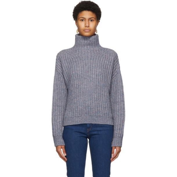 Isabel Marant Blue and Purple Iris Sweater