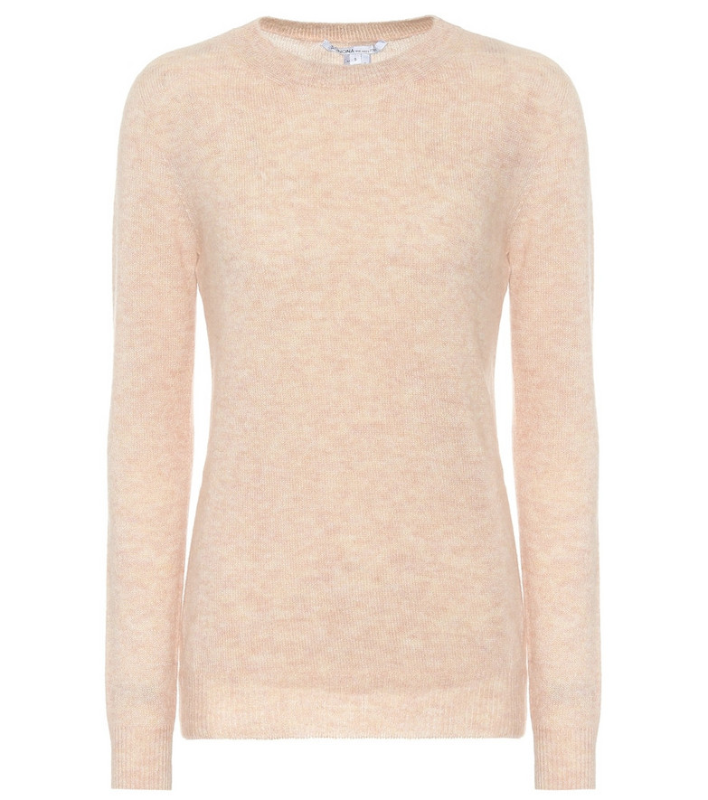 Agnona Cashmere and silk-blend sweater in pink