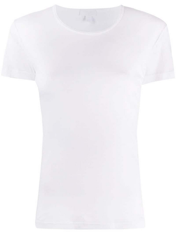 Sunspel Sea Island crew neck T-shirt in white