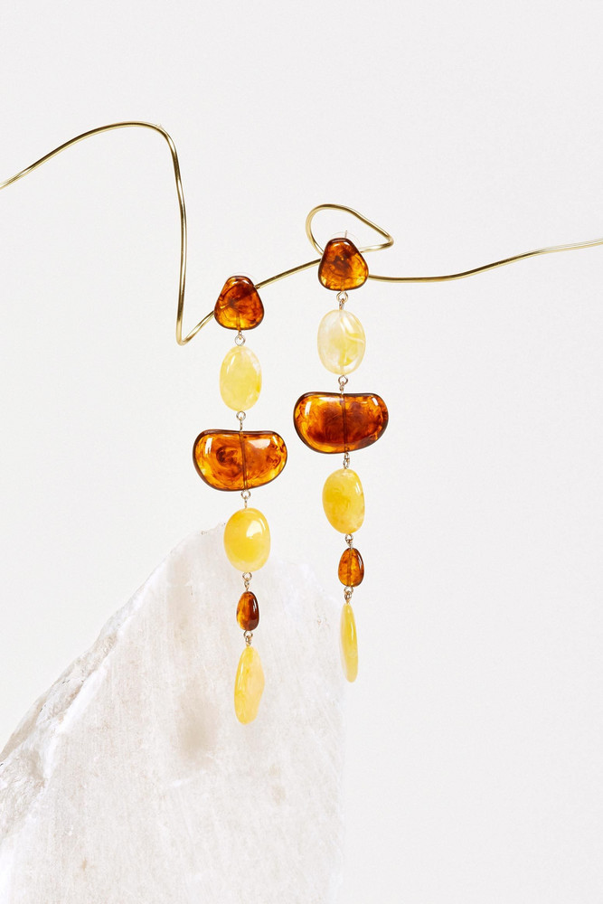 Cult Gaia Val Earring - Amber Multi                                                                                               $138.00 USD