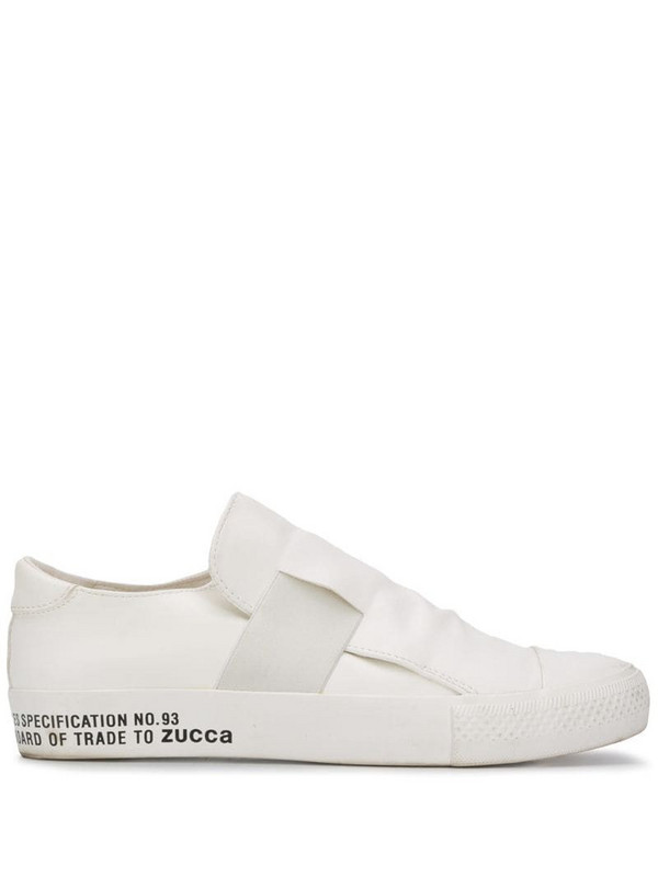 Zucca elastic-strap slip-on trainers in white