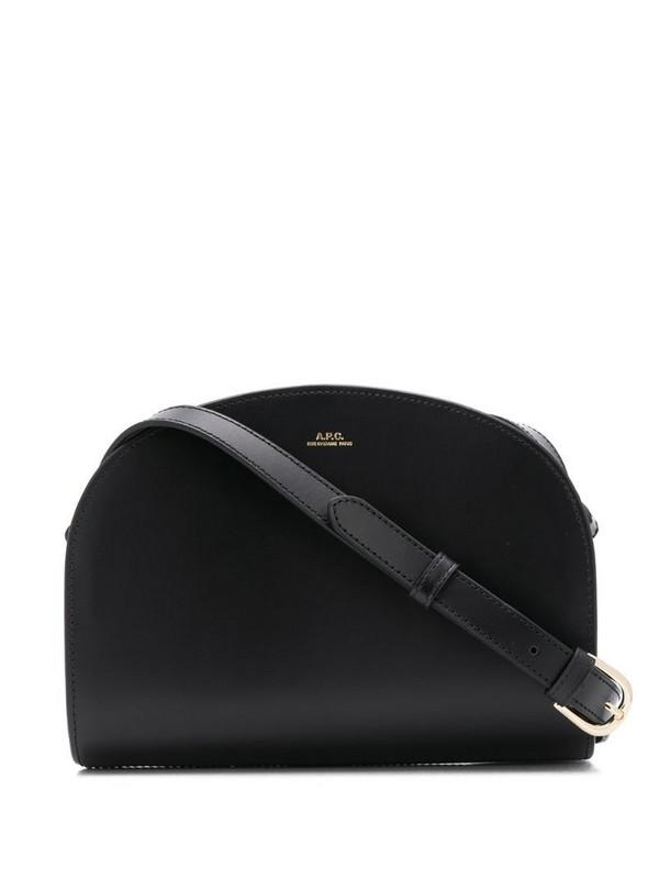 A.P.C. Demi-lune crossbody bag in black