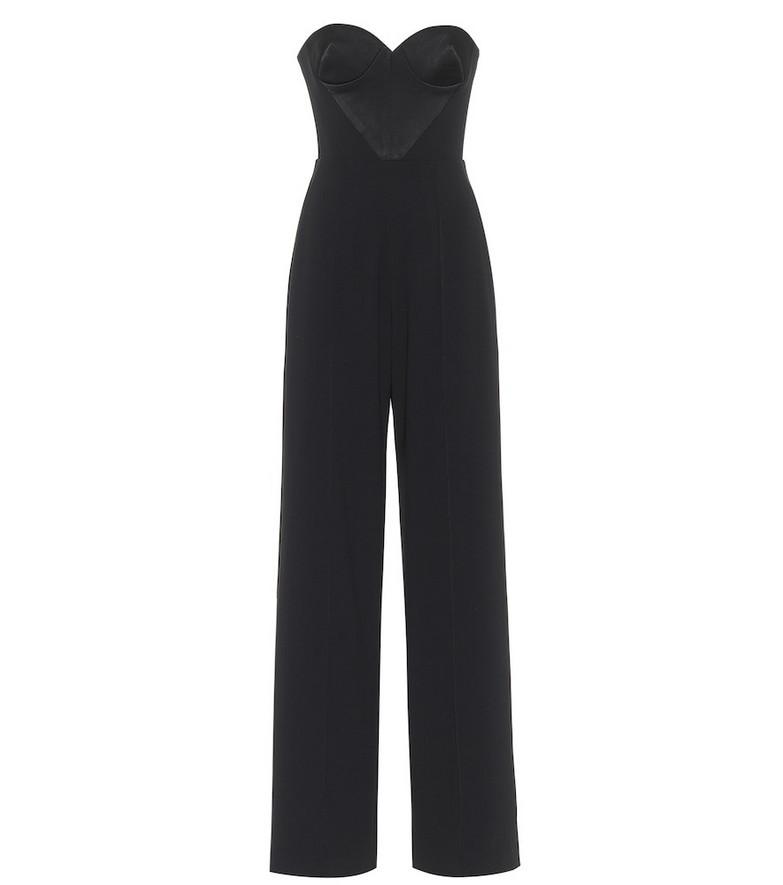 Alex Perry Brook satin crêpe jumpsuit in black