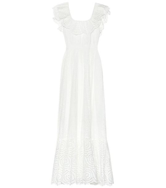 Ulla Johnson Desiree eyelet cotton maxi dress in white