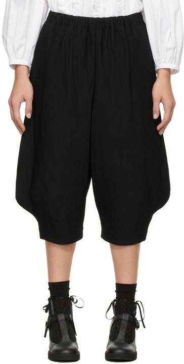 Comme des Garçons Comme des Garçons Gabardine Cropped Trousers in black