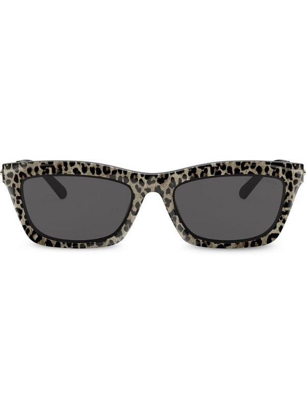 Michael Kors rectangular frame leopard print sunglasses in gold