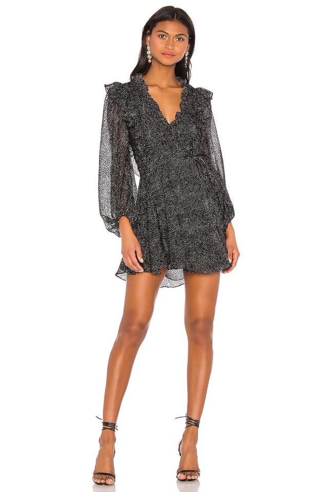Shona Joy Bowie Ruffle Mini Dress in black