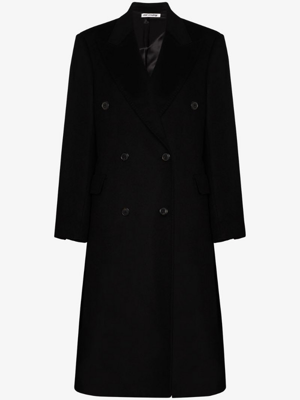 Our Legacy double-breasted coat in black