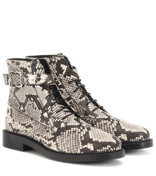 Tod's Embossed leather ankle boots in black