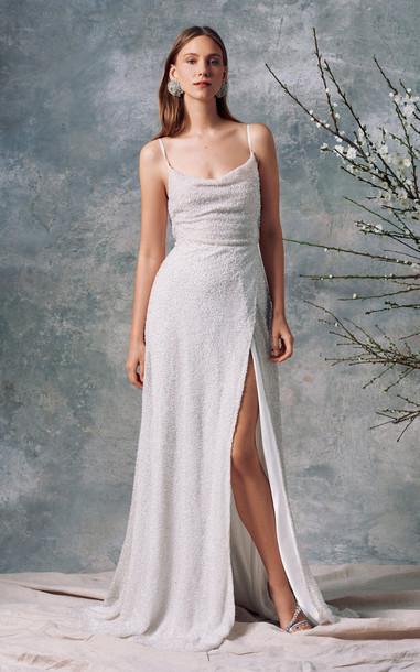 Markarian Minerva Gown in white