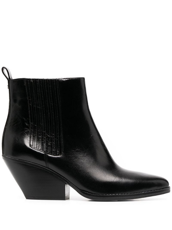 Michael Kors Collection Sinclair leather boots in black