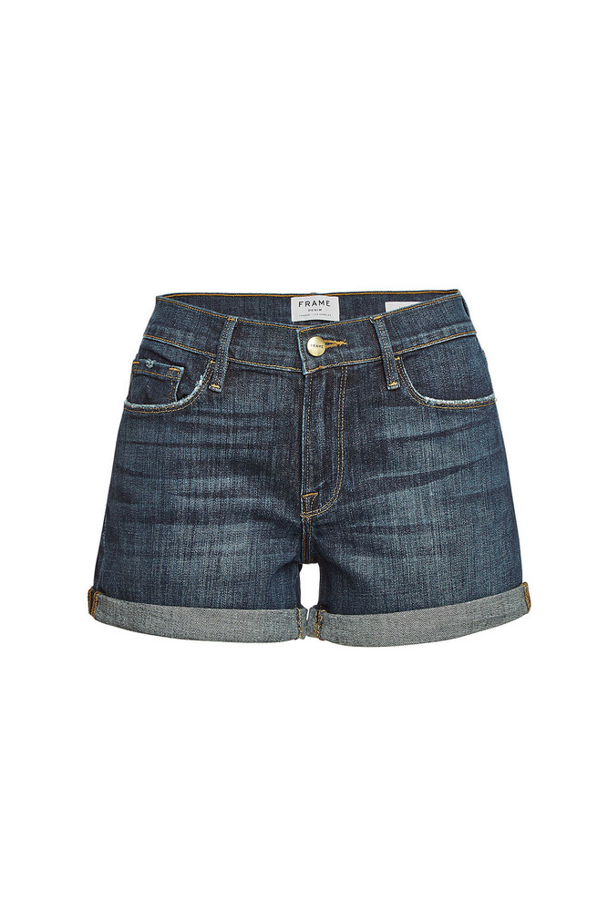 Frame Denim Le Cutoff Cuffed Shorts  in blue