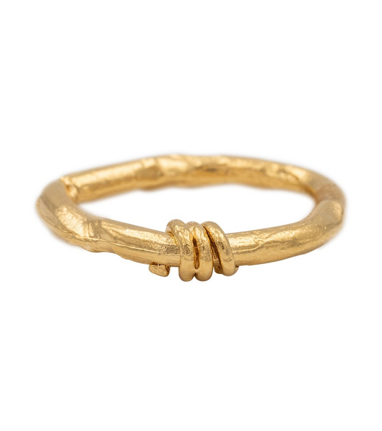 Alighieri The Trembling Bough 24kt gold vermeil ring