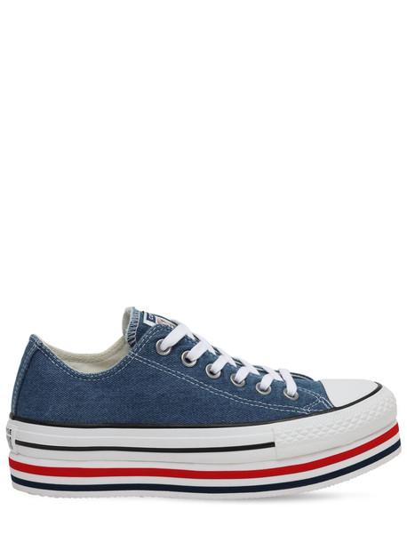CONVERSE Chuck Taylor All Star Platform Sneakers in denim / denim