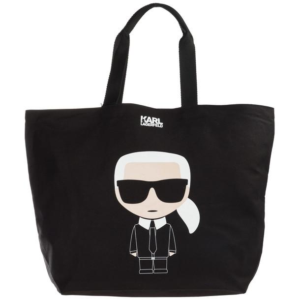 Karl Lagerfeld Handbag Shopping Bag Purse Tote K/ikonik in nero