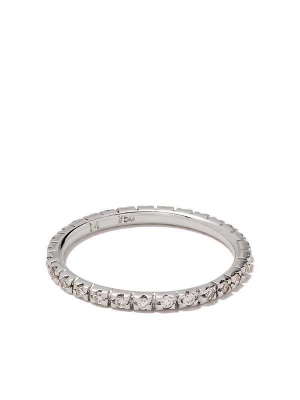Ileana Makri 18kt white gold diamond classic band ring
