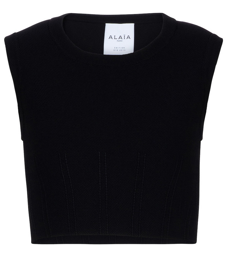 Alaïa Edition 2013 piqué jersey top in black