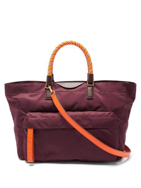 Anya Hindmarch - Neon Bungee Handle Tote Bag - Womens - Burgundy Multi