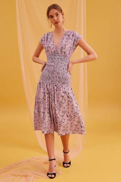 KEEPSAKE SECURE MIDI DRESS lilac floral