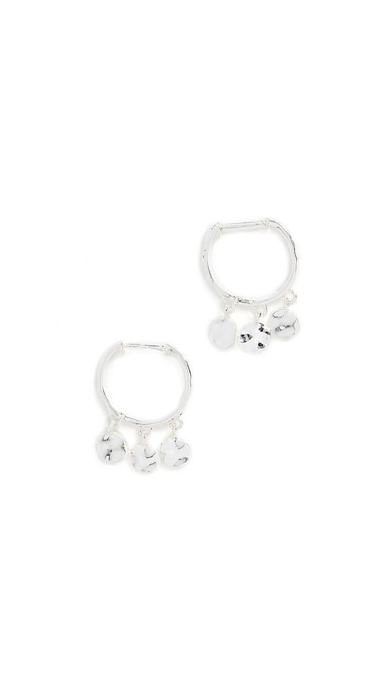 Gorjana Chloe Mini Huggie Earrings in silver