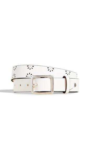Rag & Bone Boyfriend Floral Belt in white