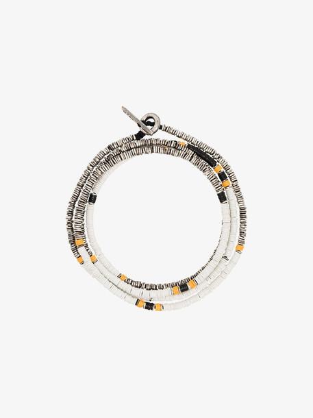 M. Cohen multicoloured Disc sterling silver beaded bracelet