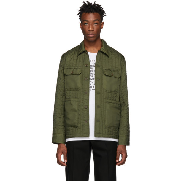 Helmut Lang Green Quilted Workwear Jacket