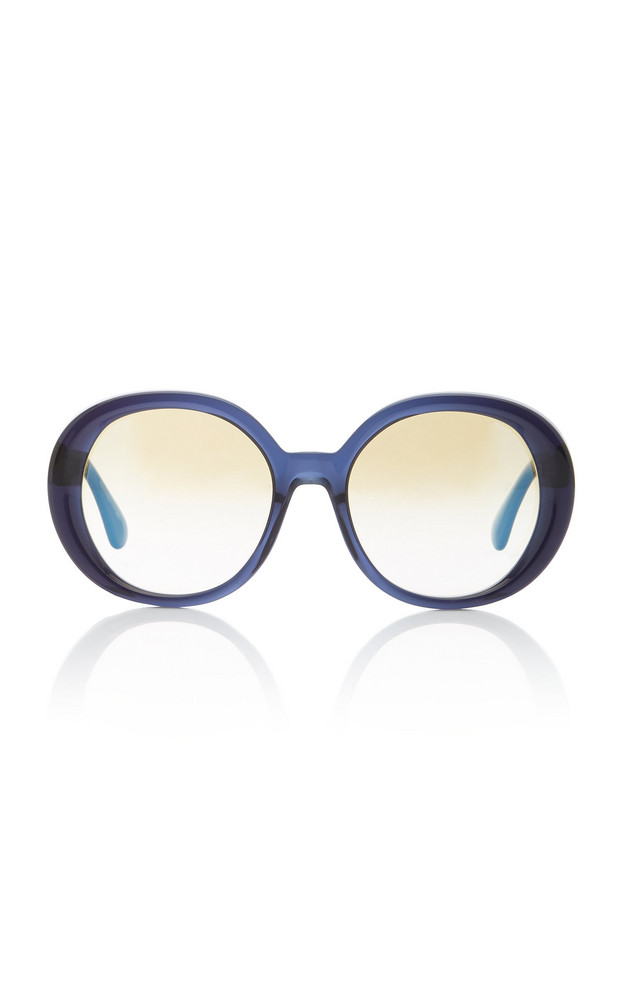 Oliver Peoples Leidy Acetate Round-Frame Sunglasses in black