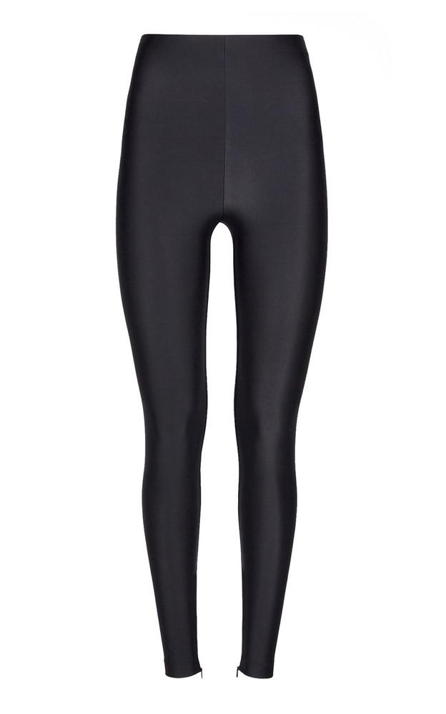 Versace High-Waisted Lycra Leggings in black