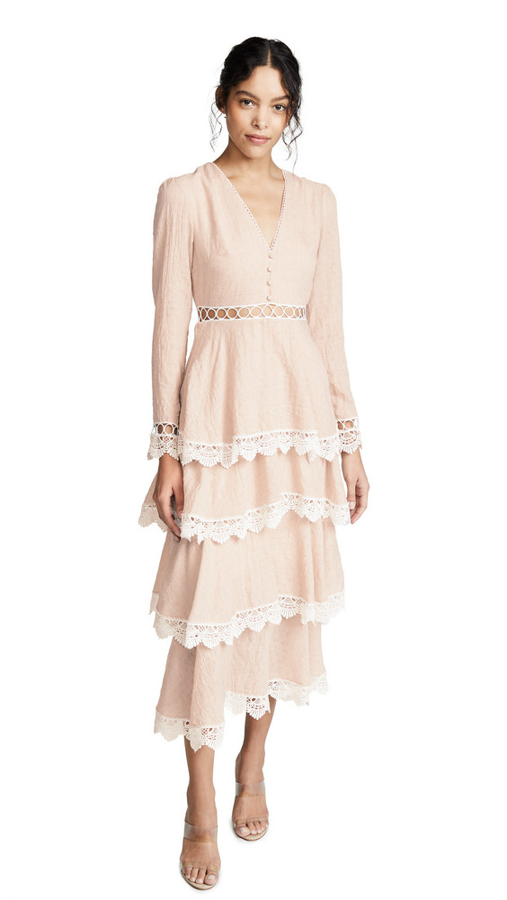 endless rose Tiered Maxi Dress in pink