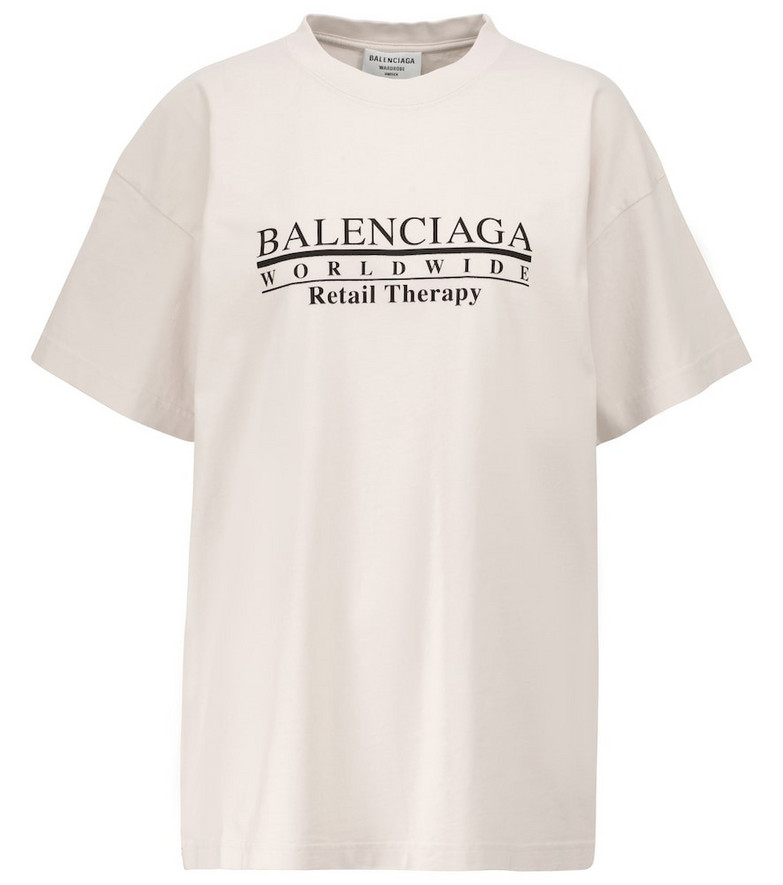 Balenciaga Retail Therapy cotton jersey T-shirt in white