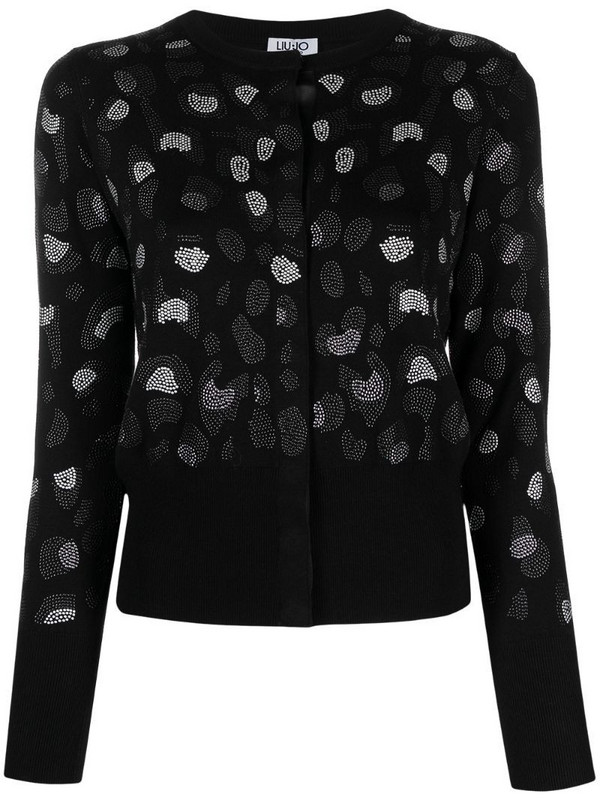 LIU JO studded pattern cardigan in black