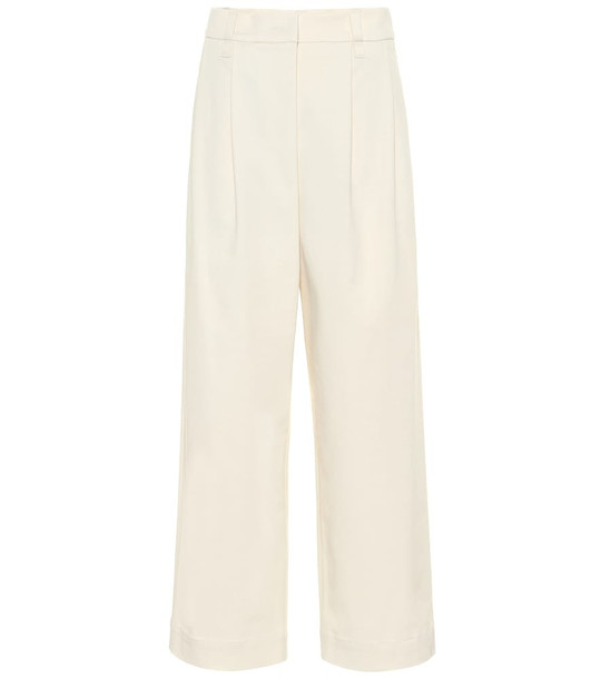 Brunello Cucinelli Cotton and wool twill pants in beige