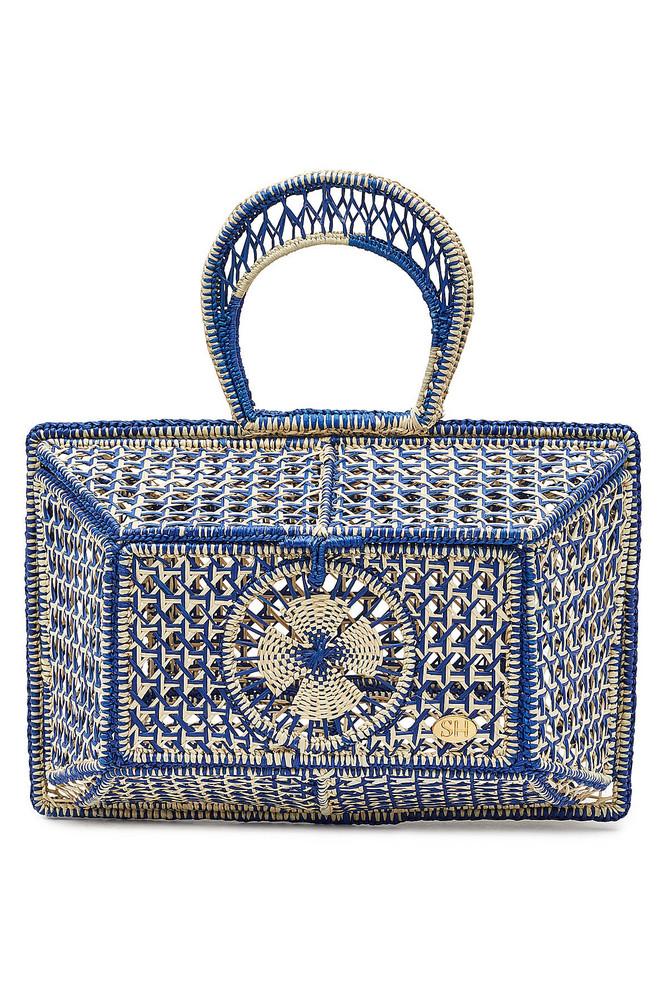 Soraya Hennessy The Isadora Basket Handbag  in blue