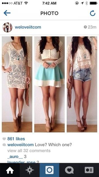 dress hat bag shirt skirt shoes