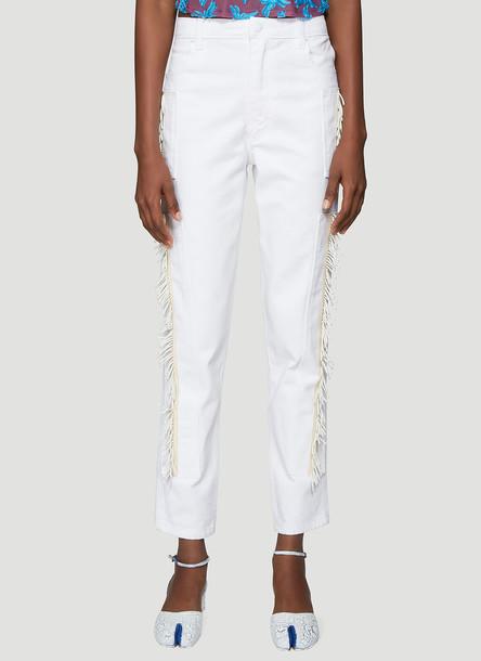 Eckhaus Latta Beaded Jeans in White size 27
