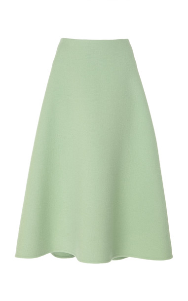 Marc Jacobs Wool-Blend Midi Skirt Size: 2 in green