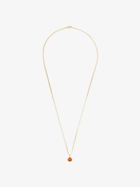Anais Rheiner 18K yellow gold spessartite pendant necklace