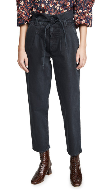 MOTHER The Greaser Paperbag Pleat Pants in black
