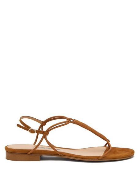 Emme Parsons - Liv T Strap Leather Sandals - Womens - Tan