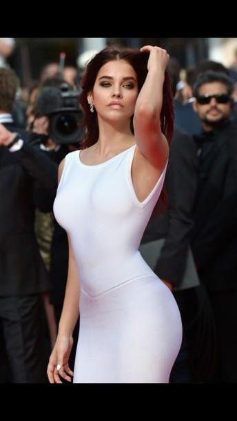 dress white dress elegant dress white tight tight white dress